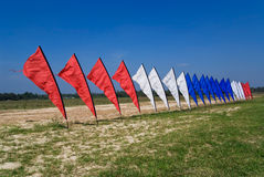 Red, white and blue flags Royalty Free Stock Photography