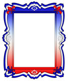 Red, White, and Blue Frame Border Stock Photography