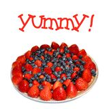 Red, white, and blue fruit tart stock images