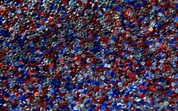 Red White and Blue Glitter 2 Stock Photos