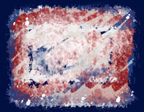 Red, white & blue grunge Stock Image
