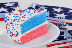 Red White and Blue Cake Stock Image