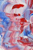 Red white and blue painting Stock Photo
