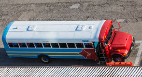 Red White and Blue Party Bus in Aruba Royalty Free Stock Photos