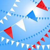Red white and blue pennants Stock Image