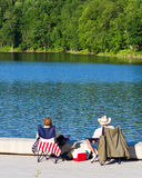 Red, white and blue picnic Stock Photo