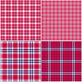 Red white blue plaids. Red white blue plaid vector backgrounds royalty free illustration
