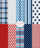 Red, White & Blue Patterns Royalty Free Stock Photo