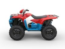 Red white and blue quad bike Stock Image