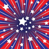 Red white and blue rays Royalty Free Stock Image