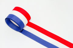 Red white and blue ribbon Stock Photography
