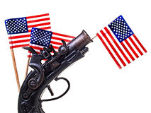 Red White & Blue Ribbon & Gun Stock Image