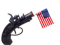 Red White & Blue Ribbon & Gun Stock Photos