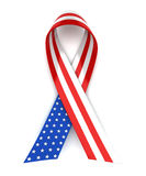Red, white, and blue ribbon Stock Image