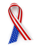 Red, white, and blue ribbon Royalty Free Stock Photo