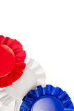 Red white and blue ribbons Stock Images