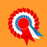 Red white and blue rosette Royalty Free Stock Photography