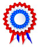 Red White and Blue Rosette. A red white and blue rosette over a white backgroun vector illustration