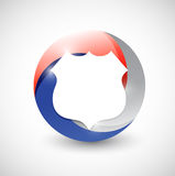 Red, white and blue shield illustration design Stock Photos