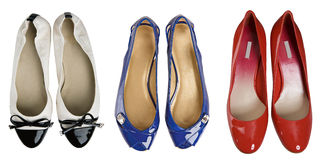 Red white blue shoes Royalty Free Stock Photography