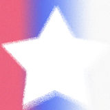 Red White Blue Star royalty free stock photo