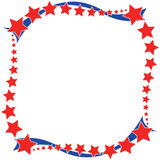Red white a blue star border Royalty Free Stock Photography