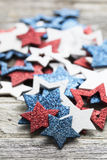 Red White and Blue Star Decorations Stock Photo