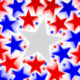 Red, white, and blue stars Royalty Free Stock Photography