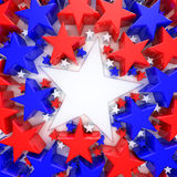 Red, white and blue stars Royalty Free Stock Photography