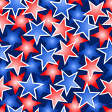 Red white and blue stars seamless pattern Royalty Free Stock Image