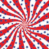 Red White and Blue Stars on Swirl Background Royalty Free Stock Image