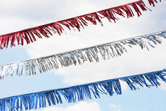 Red white and blue streamers. Royalty Free Stock Image