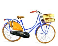 Typical Dutch bike in water color Stock Photo