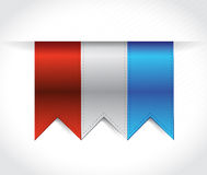 Red, white and blue USA banners illustration Royalty Free Stock Photo
