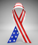 Red, white, and blue USA ribbon. 3d rendering Stock Image