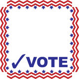 Red white a blue VOTE graphic with frame Royalty Free Stock Photo