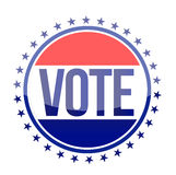 Red white and blue vote seal Stock Photography