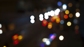 Red, white, blue and yellow lights Royalty Free Stock Photo