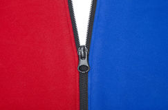 Red White And Blue Zipper Royalty Free Stock Image