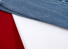Red White & Bluejeans 2. This background promotes the red white and bluejeans stock photography