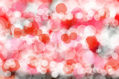 Red & white blur bokeh background Stock Images