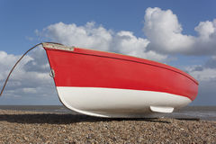 Red and white boat Royalty Free Stock Photos