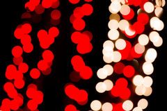 Red & White Bokeh Lights Royalty Free Stock Images