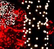 Red & White Bokeh Lights stock photo