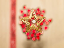 Red and white bokeh with star Royalty Free Stock Images