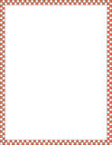 Red and white border. A red and white checkered border background Royalty Free Stock Photo