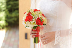 Red and White Bouquet Stock Image
