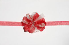 Red and white bow Stock Image