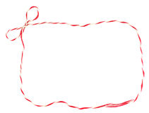 Red and white bow rope frame Royalty Free Stock Photo