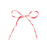 Red and white bow rope isolated on white Stock Image